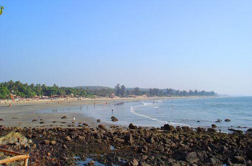 Beachen i Arambol, Goa, Indien
