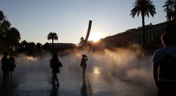 Svalkande plats i sommarhettan i Nice