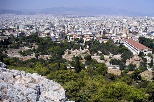 Den grekiska Agoran från Areopagen