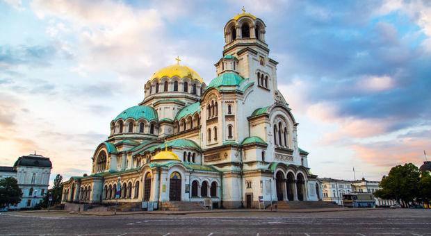 Det är billigt att kika på den här fina byggnaden i Sofia.
