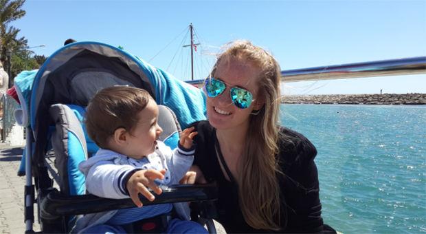 Louise och sonen Adem