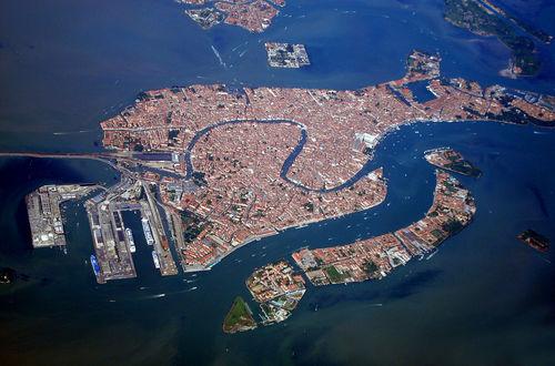 Flygbild över Venedig