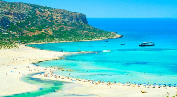 Inbjudande strand på Kreta.