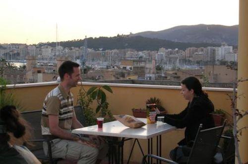 På en takterras i Palma de Mallorca