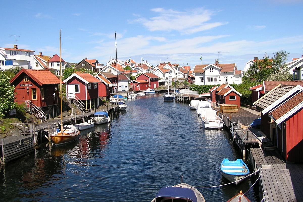 Titt över Grundsunds sommarstugor....