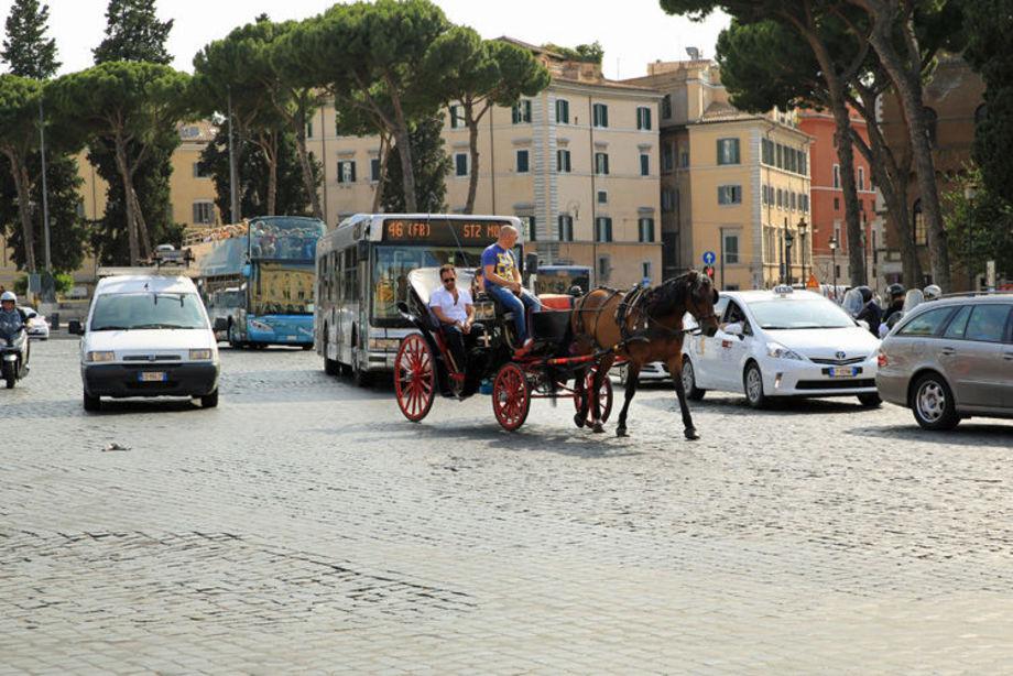 Hetsig Trafik Med Bussar Bilar O H 228 Stdroskor Rom