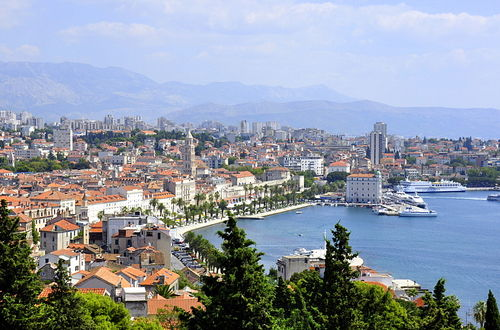 Panoramautsikt över staden Split