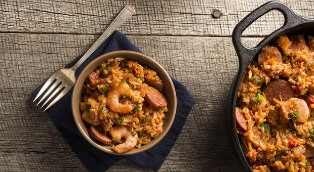 Recept: Jambalaya med scampi & chorizo