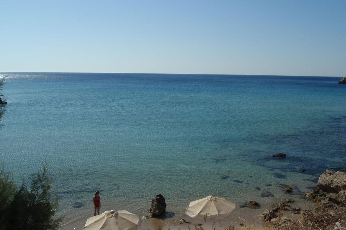 Lilla stranden i Amopi.