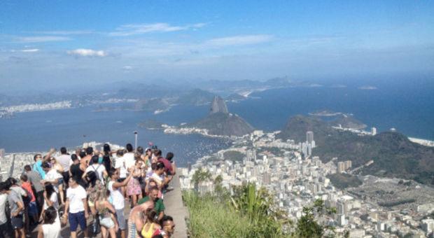 Känd utsiktsplats i Rio