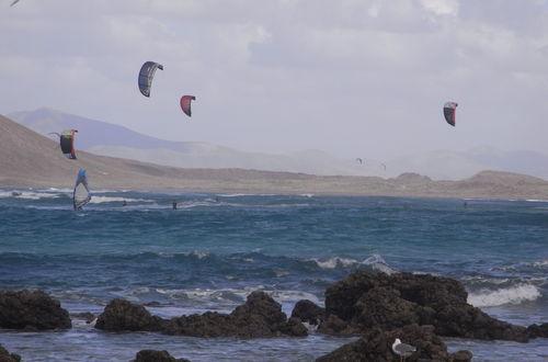 Kite - surfing utanför Corralejo