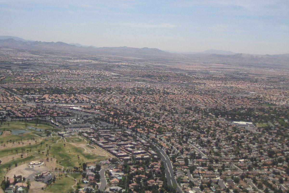 Inflygning till Las Vegas
