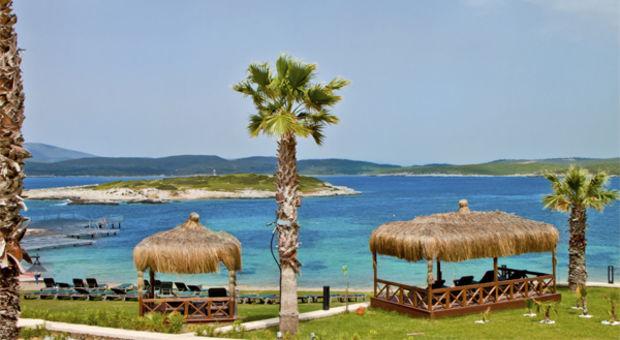Njut på en strand i varma Turkiet