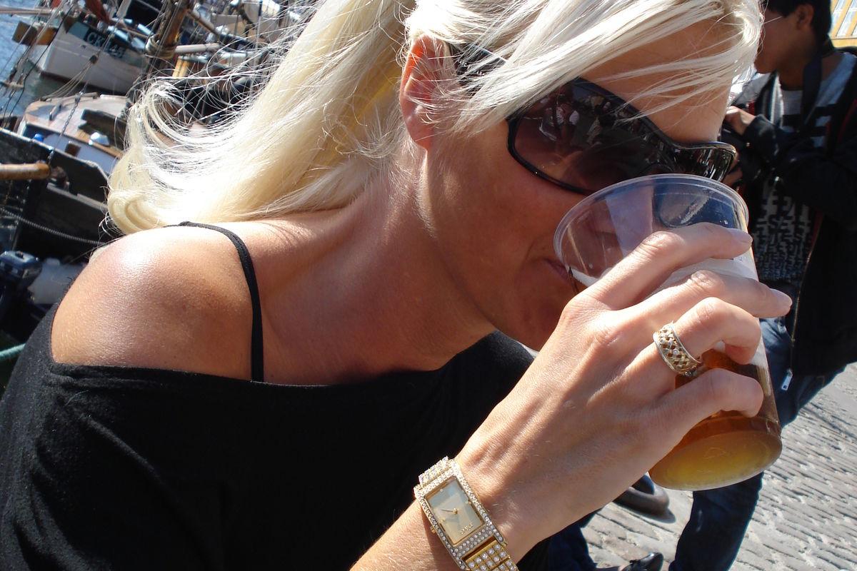 Kall öl i solen