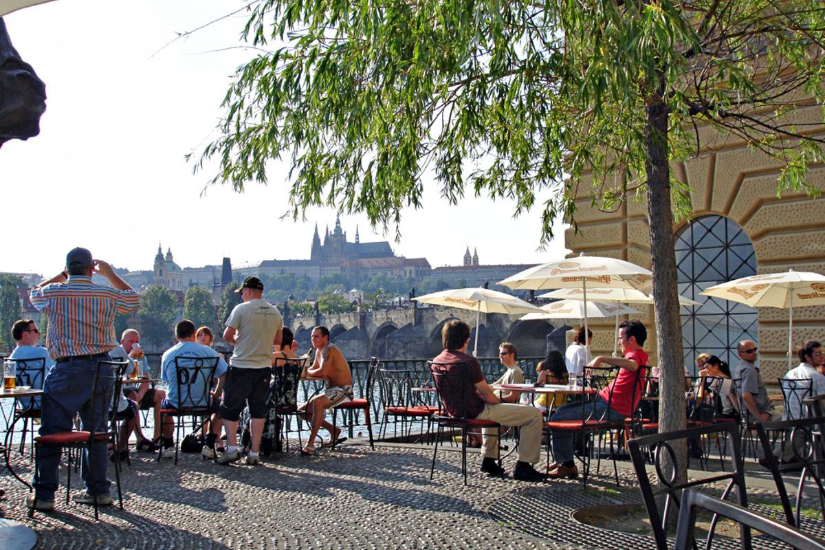 Skön avslappnad stämning i Prag