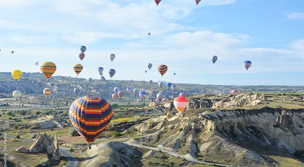 Luftballonger över Turkiet