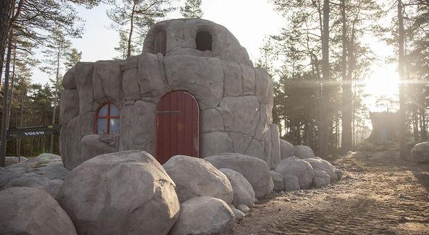 Bamses hus växer fram och ska återspegla serietidningen in i minsta detalj