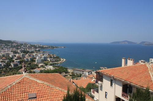 Utsikten från lägenheten i Gulluk