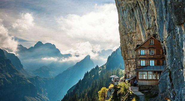 Äscher Cliff, Schweiz