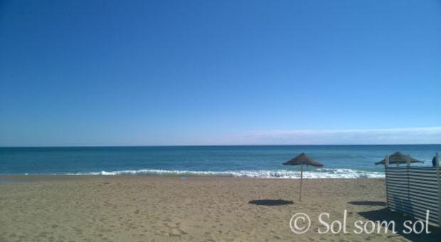 Strand på Costa del Sol