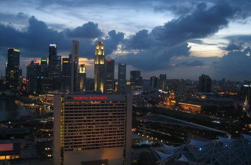 Singapore; Dawn Over Marina Centre