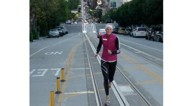 Jo, det går att träna även i en storstad! Backlöpning när det är som bäst!