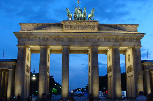Kväll vid Brandenburger Tor