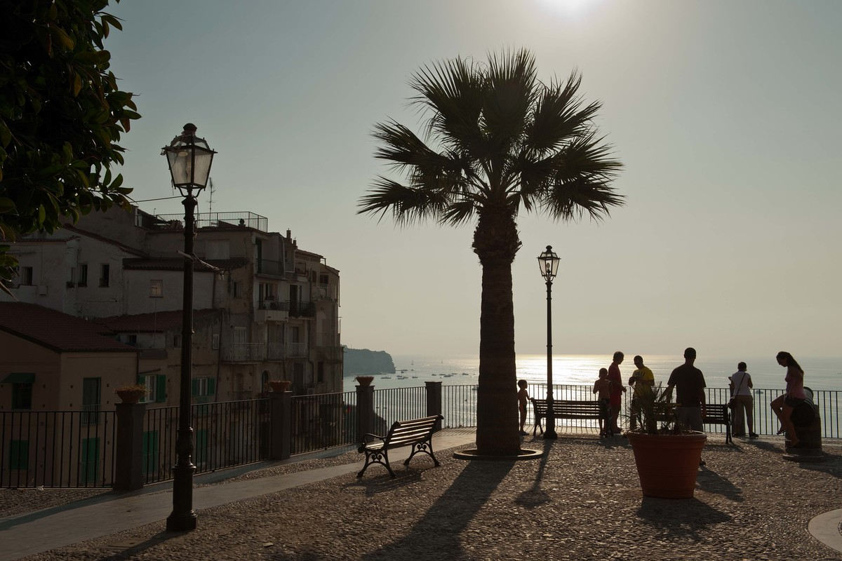 Vy från Tropea mot Tyrrenska havet