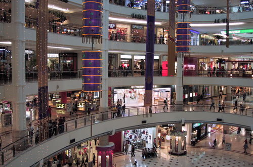 Pampigt köpcentrum i Kuala Lumpur