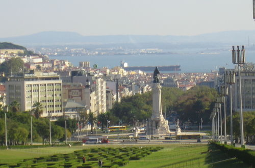 Utsikt över hamnen i Lissabon