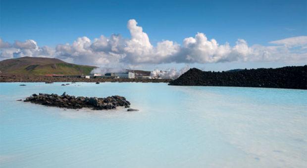 Blå Lagunen på Island. Ett riktigt spa!