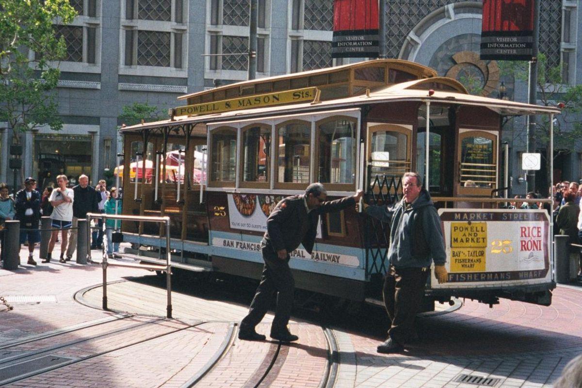Vändplats för San Fransiscos Cable cars