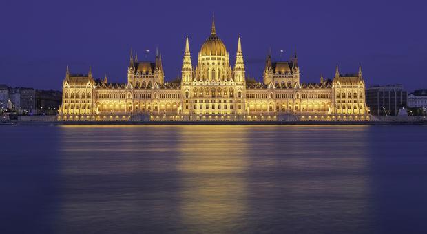 Ungerska parlamentet i Budapest.