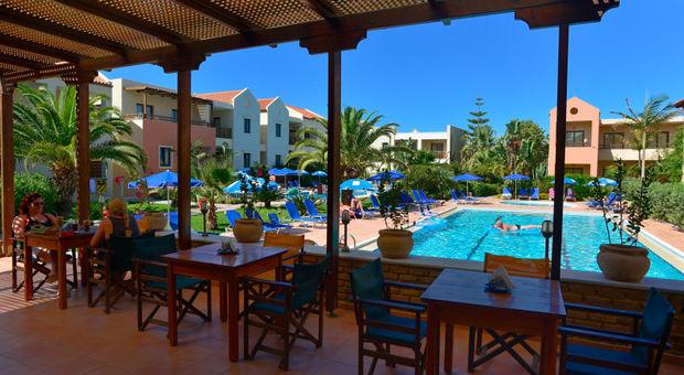 På Blue Sea Apartments på Kreta är det i april upp till 43% rabatt.