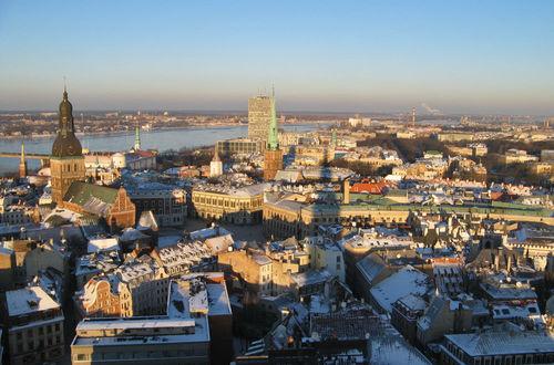 Utsikt från tornet på St Peterskyrkan