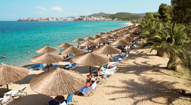 Häng på stranden Porto Carras Beach i Sithonia
